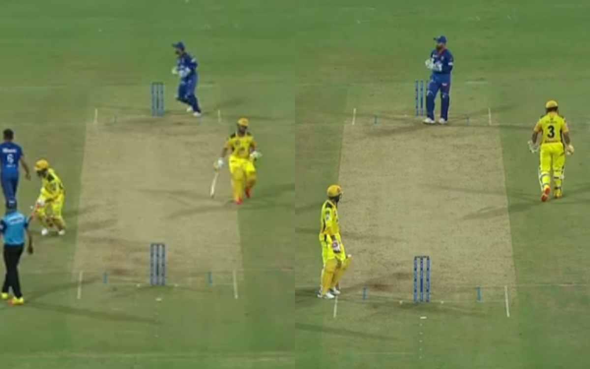 Cricket Image for VIDEO : जडेजा का लालच पड़ा रैना पर भारी, आधी पिच पर बुलाकर कराया 'चिन्ना थाला' को