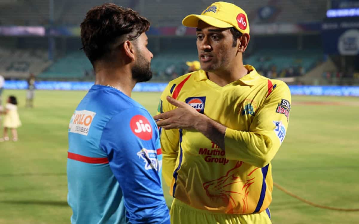 Cricket Image for Rishabh Pant Will Take The Field As A Delhi Capitals Captain Against Ms Dhoni In I
