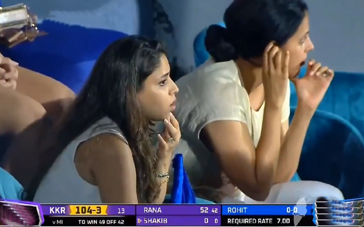 Cricket Image for Kkr Vs Mi Ritika Sajdeh Reaction On Rohit Sharma Twisted Ankle