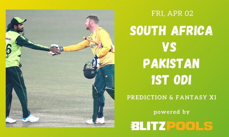 South Africa vs Pakistan, 1st ODI – Blitzpools Prediction ...