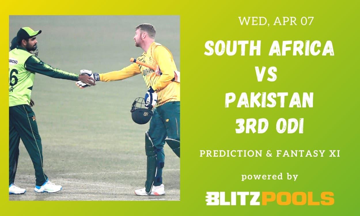 Cricket Image for South Africa vs Pakistan, 3rd ODI – Blitzpools Prediction, Fantasy XI Tips & Proba