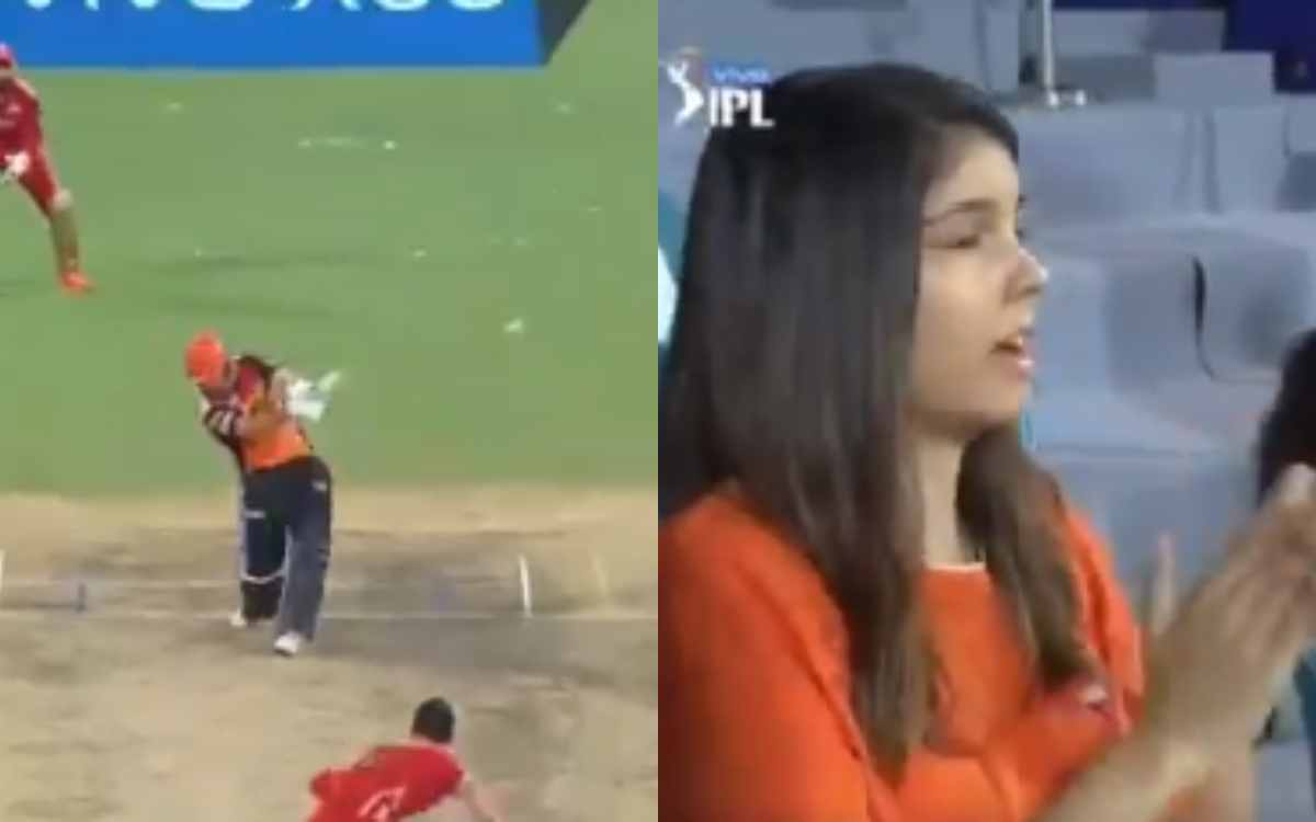 Cricket Image for VIDEO : बेयरस्टो का छक्का देखकर इमोशनल हो गई काव्या मारन, हैदराबाद की सीईओ का वीडि