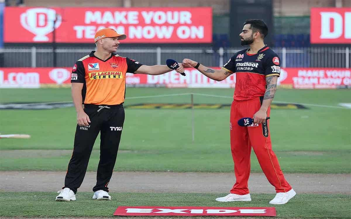 Cricket Image for IPL 2021: Sunrisers Hyderabad Won The Toss Against Bangalore Warner Decided To Bow
