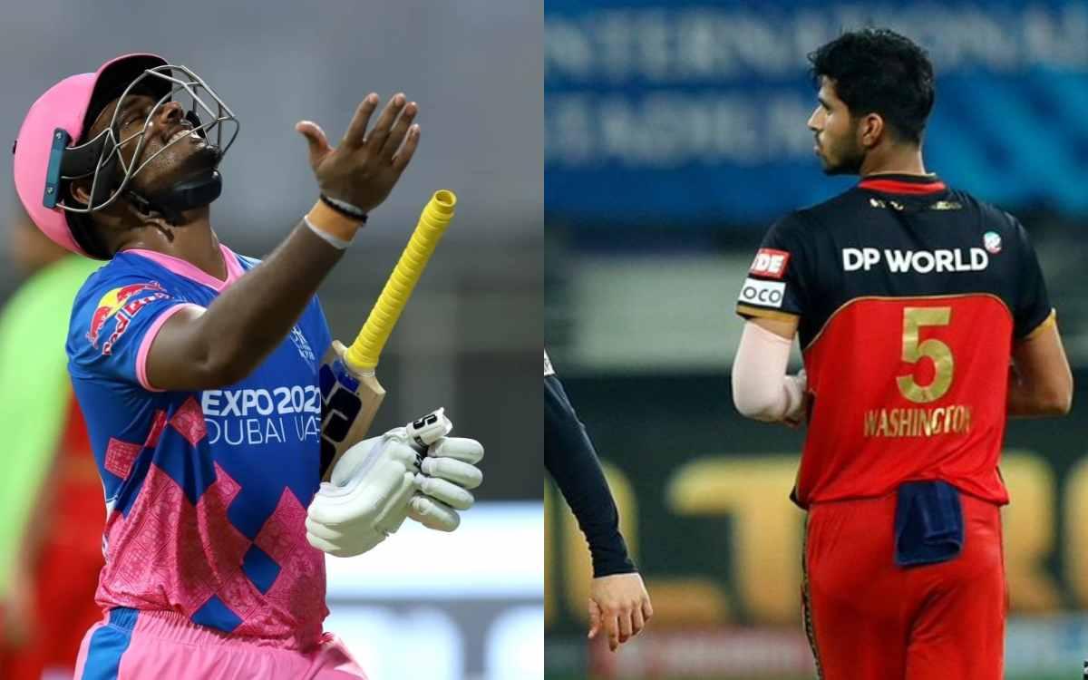 Cricket Image for VIDEO : पहली गेंद पर छक्का और अगली गेंद पर आउट, सुंदर ने सैमसन से कुछ इस अंदाज में