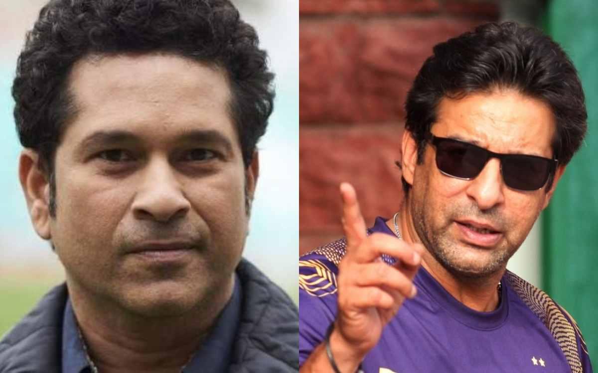 Cricket Image for वसीम अकरम ने की अस्पताल में भर्ती सचिन से मांग, कहा- 'मुझे तस्वीर जरूर भेजना'