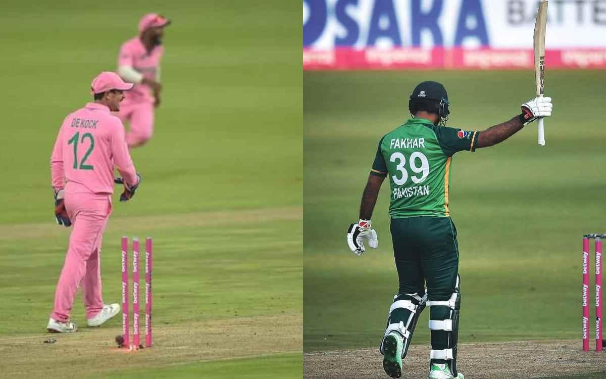Cricket Image for 'क्या कहते हैं आईसीसी के नियम', फख़र ज़मान के रन आउट को लेकर नहीं थम रहा बवाल