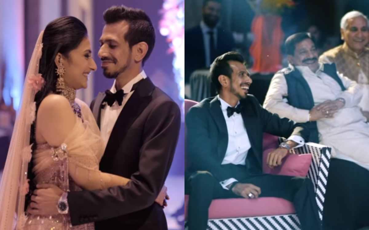 Cricket Image for VIDEO : चहल और धनश्री की 'Wedding Film' हुई रिलीज़, वीडियो देखकर हो जाएंगे धनश्री