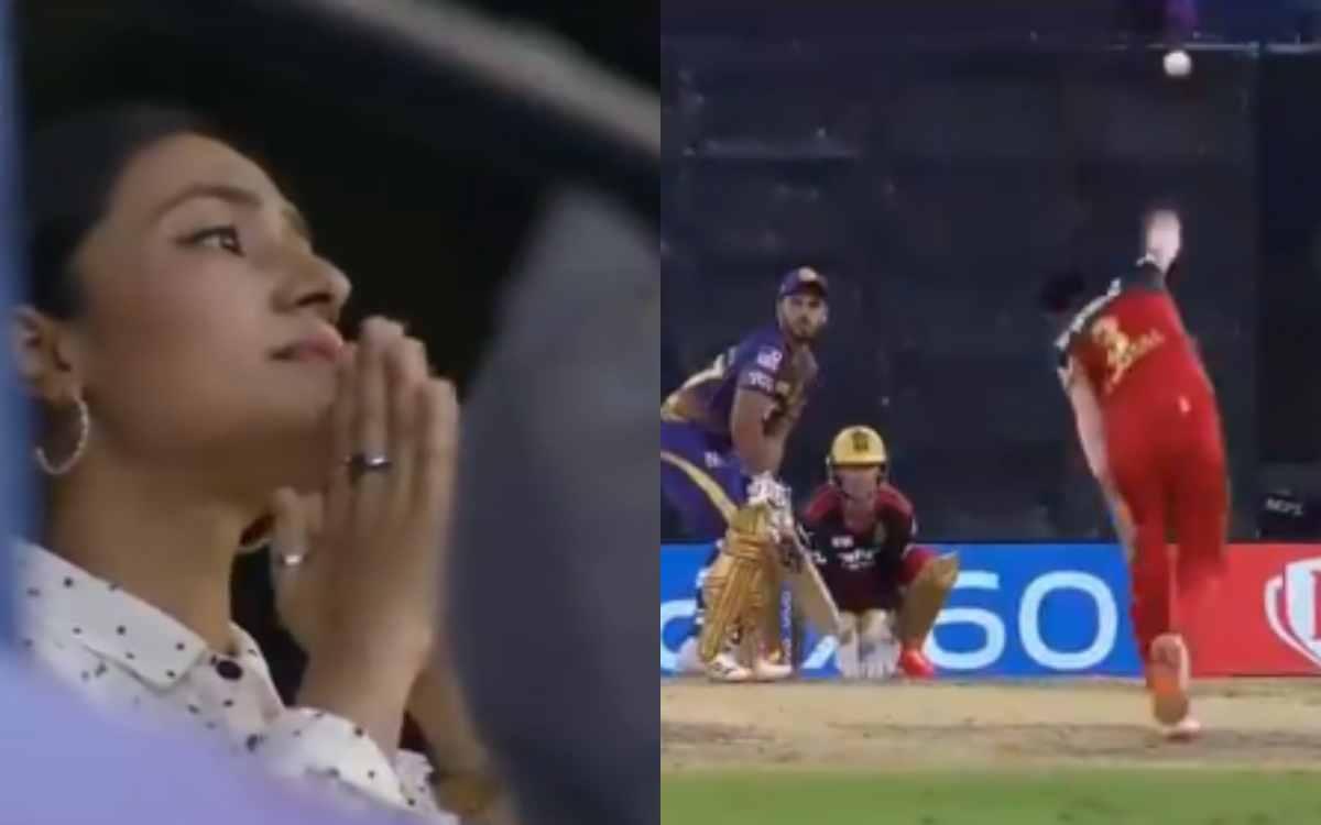 Cricket Image for VIDEO : जब पति ने लिया आईपीएल 2021 में पहला विकेट, इमोशनल हो गई चहल की पत्नी धनश्र
