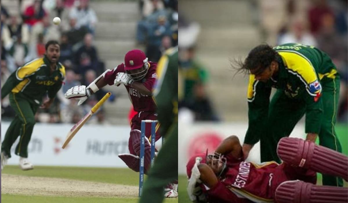 Akhtar's bouncer hit Lara on head, Sammy questioned if he wants to play again