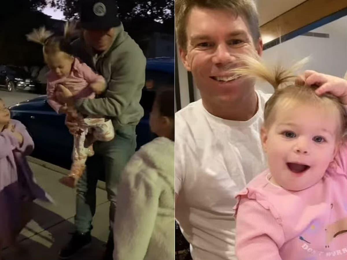 David Warner and his family