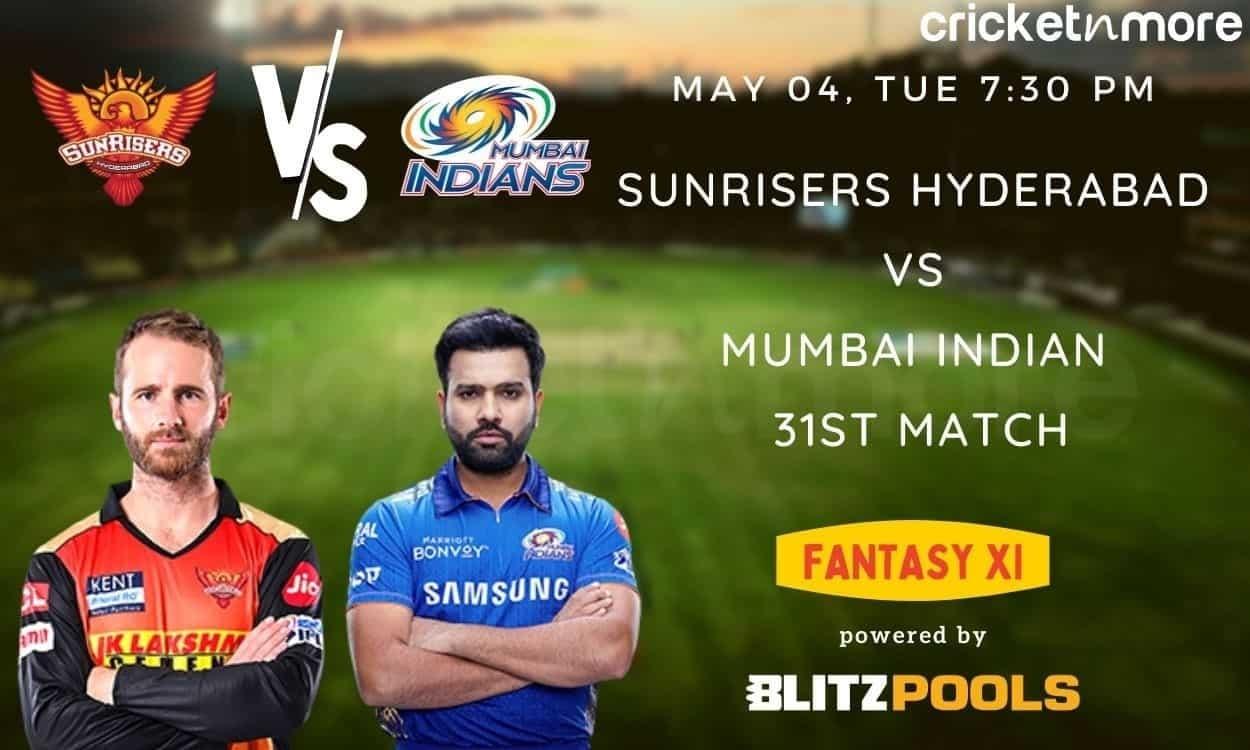 IPL 2021, SRH v MI – Blitzpools Fantasy XI Tips, Prediction & Pitch Report