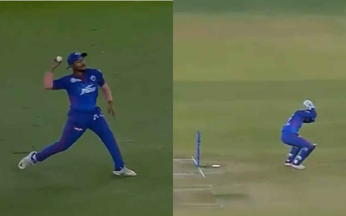 Cricket Image for Dc Vs Pbks Rishabh Pant Afraid Of Prithvi Shaw Throw Watch Video