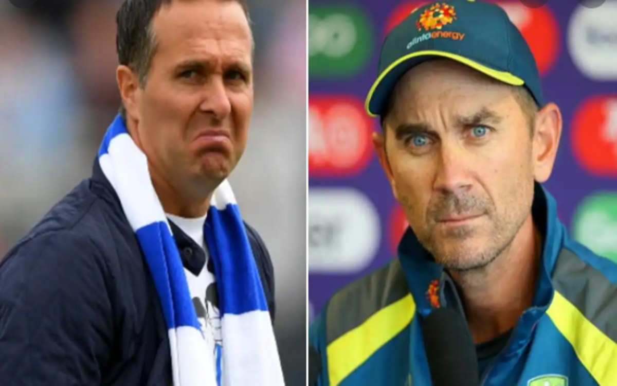 Cricket Image for Justin Langer And Michael Vaughan Funny Banter On Australias Series Defeat To Indi