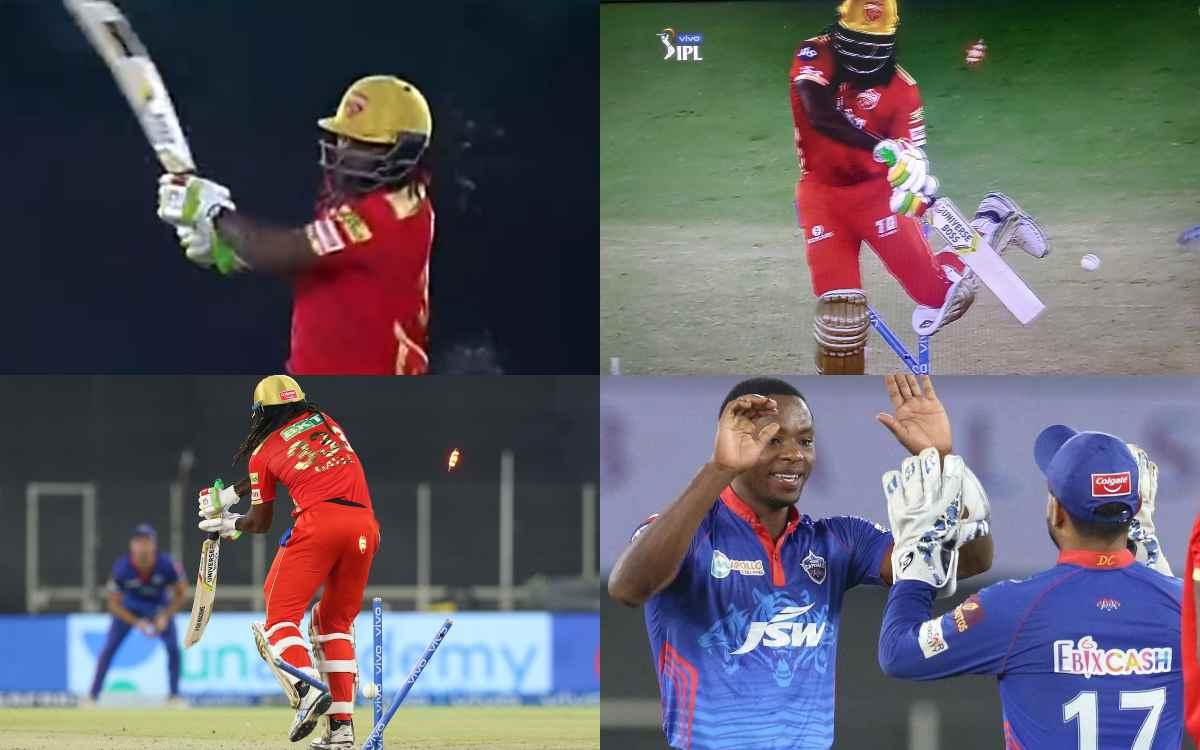 Cricket Image for VIDEO: कागिसो रबाडा ने क्रिस गेल से लिया बदला,143.4 KM ऱफ्तार की गेंद से किया विके