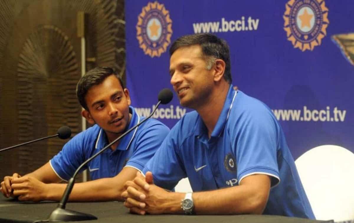 Cricket Image for पृथ्वी शॉ ने कहा, द्रविड़ सर ने मुझसे कभी अपना स्वभाविक खेल बदलने के लिए नहीं कहा