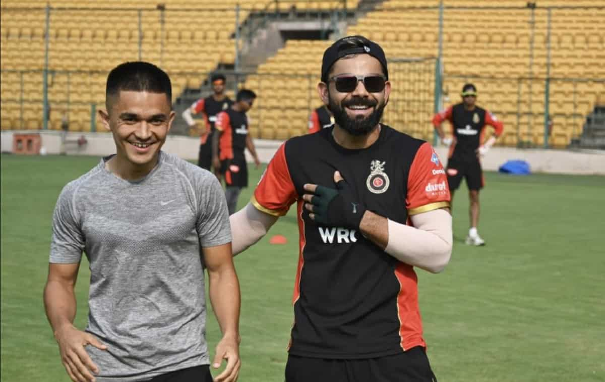 Cricket Image for सुनील छेत्री हुए विराट कोहली की फुटबॉल स्किल्स के फैन, बोले एक ही बिल भेजूं या फिर
