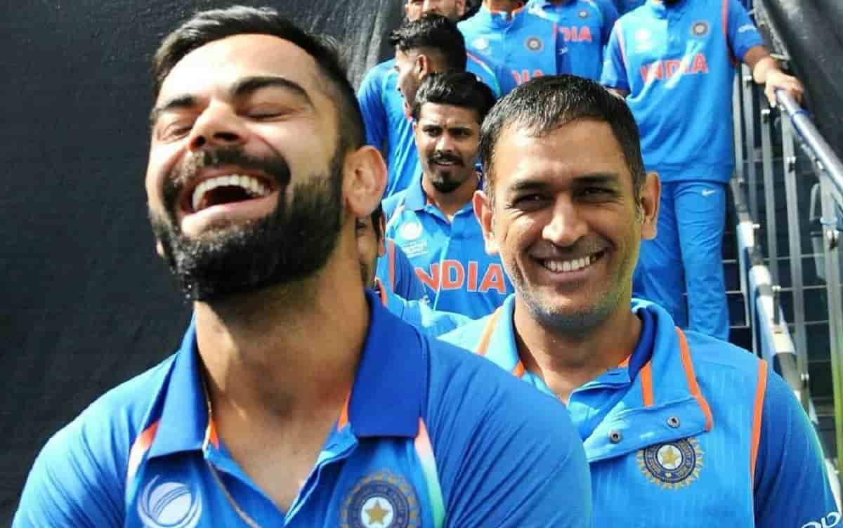 Cricket Image for फैन ने पूछा, धोनी से रिश्ते के लिए कोई 2 शब्द, विराट कोहली ने अपने जवाब से जीता दि