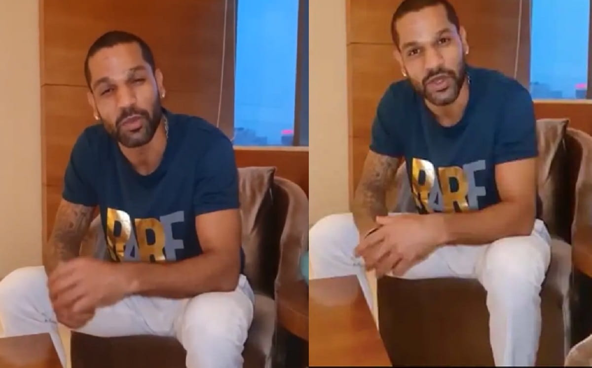 Watch VIDEO - Shikhar Dhawan recites one of his favourite poems