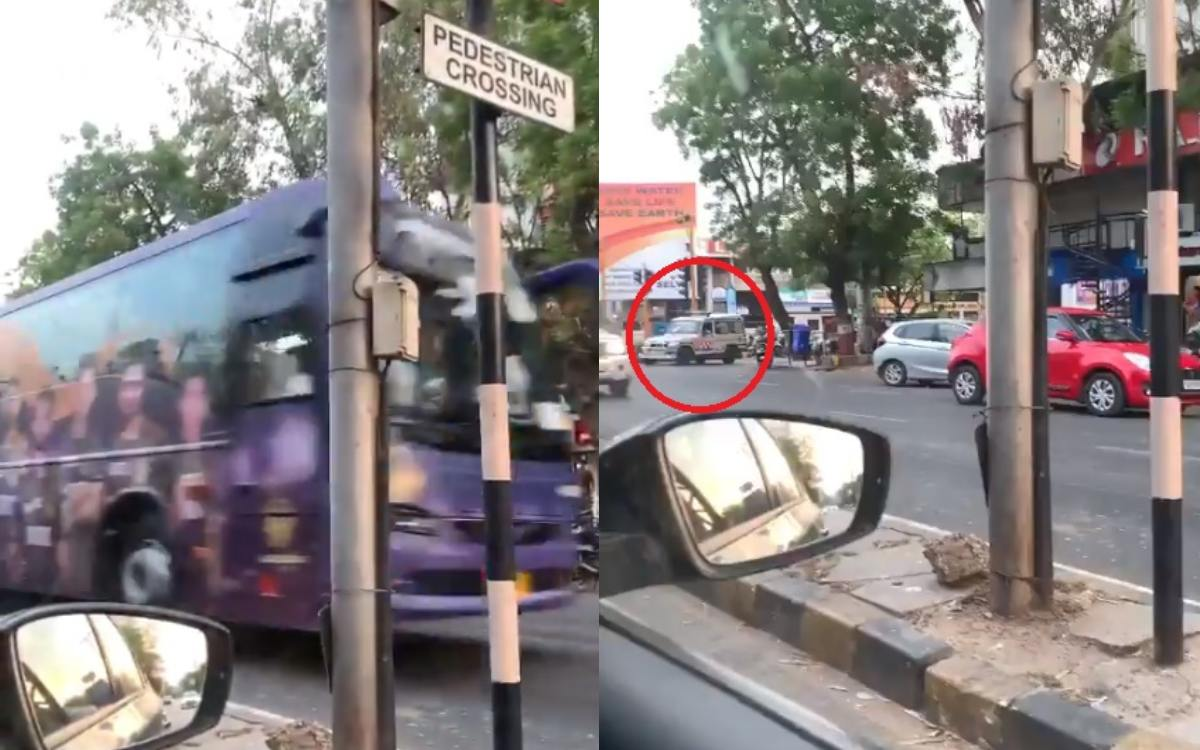 Cricket Image for Ambulance Halted For Kolkata Knight Riders Team Convoy Watch Viral Video