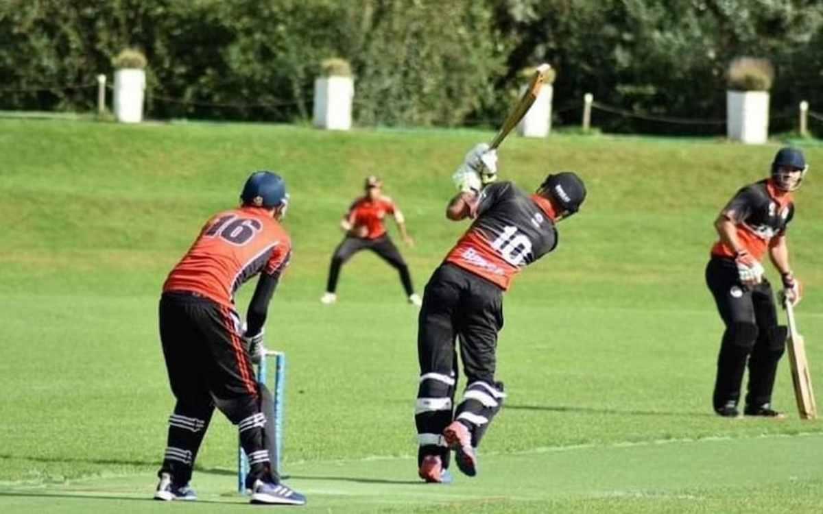 Cricket Image for 34 साल के इस खिलाड़ी ने मचाया तहलका, एक ओवर में 6 छक्कों समेत ठोके 25 गेंदों में 6