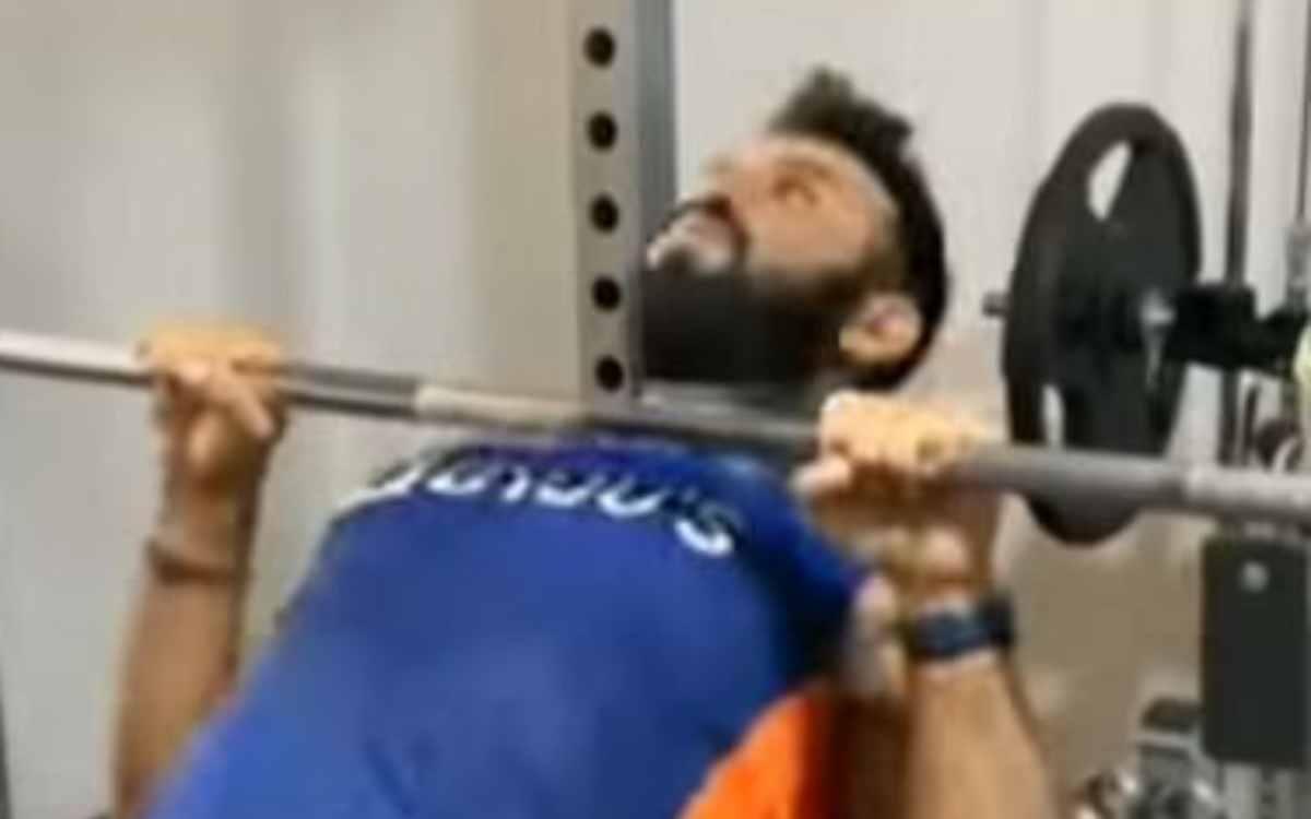 Cricket Image for VIDEO : WTC Final से पहले  जमकर पसीना बहा रहे हैं पुजारा, जिम सेशन का वीडियो किया
