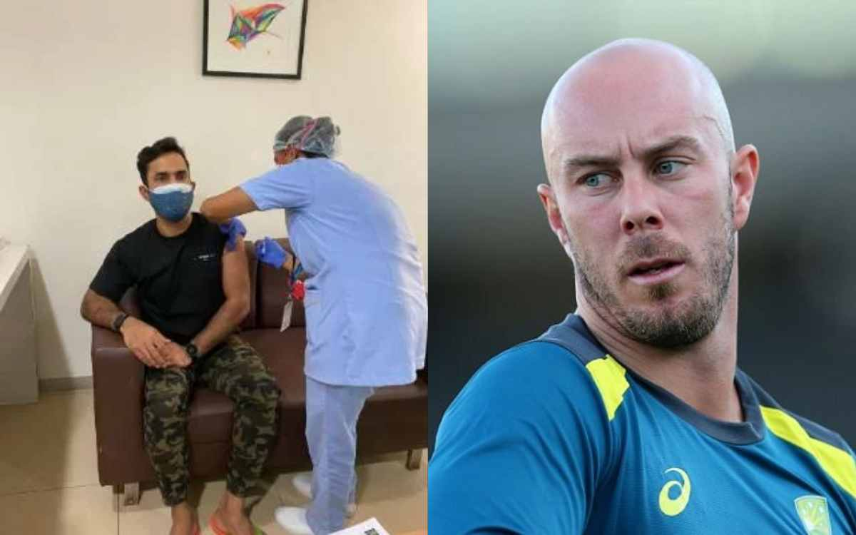 Cricket Image for 'कम से कम पैंट तो पहन सकते थे' वैक्सीन लगवाने गए दिनेश कार्तिक के क्रिस लिन ने लिए