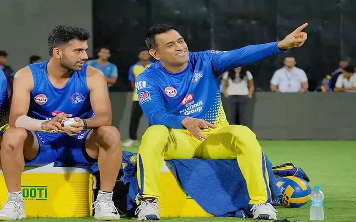 Cricket Image for Deepak Chahar Expressed Apprehension About Dhonis Best Ipl Said Best Will Be Seen