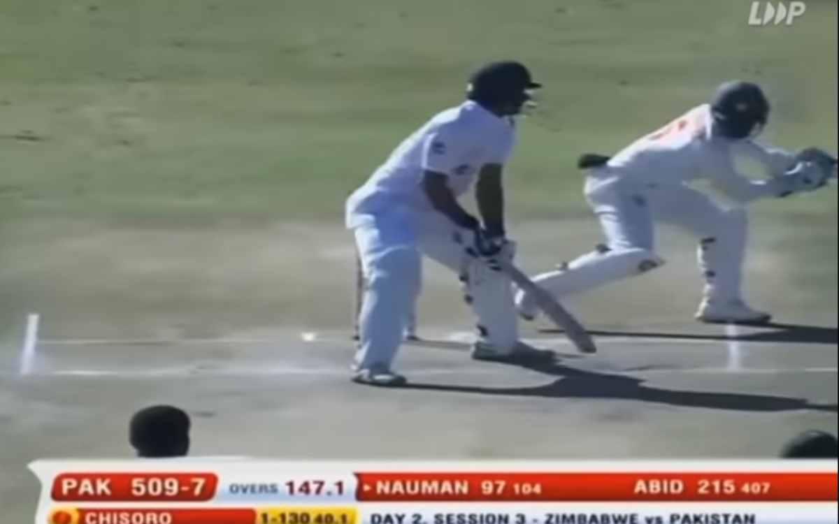 Cricket Image for VIDEO : क्रीज़ में खड़े-खड़े स्टंप आउट हुआ पाकिस्तानी बल्लेबाज़, 9वें नंबर पर आकर