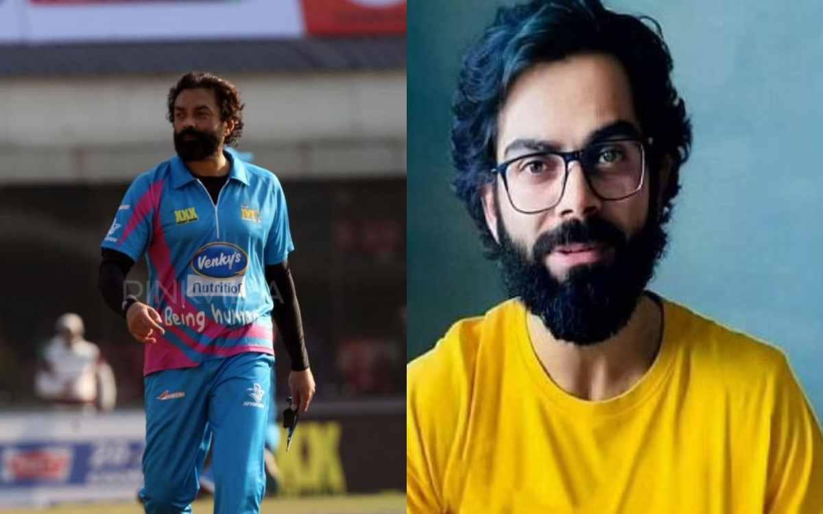 Cricket Image for विराट कोहली का नया लुक हुआ वायरल, फैंस बॉबी देओल से कर रहे हैं तुलना