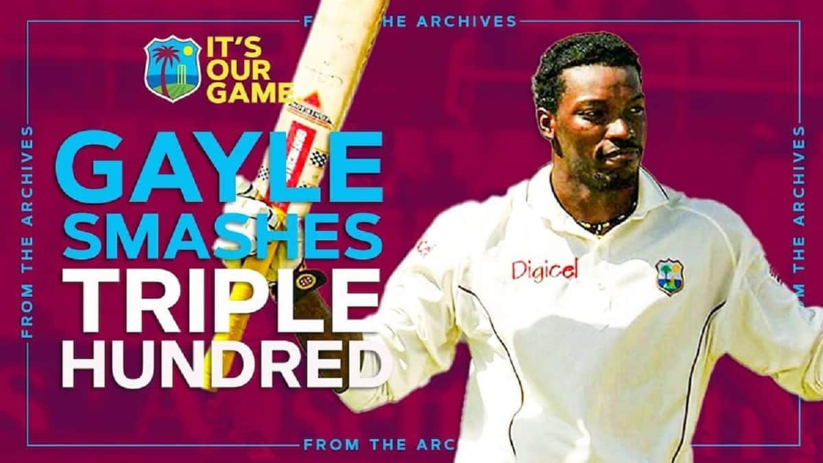 Chris Gayle 317 runs against South Africa in test, Watch Video