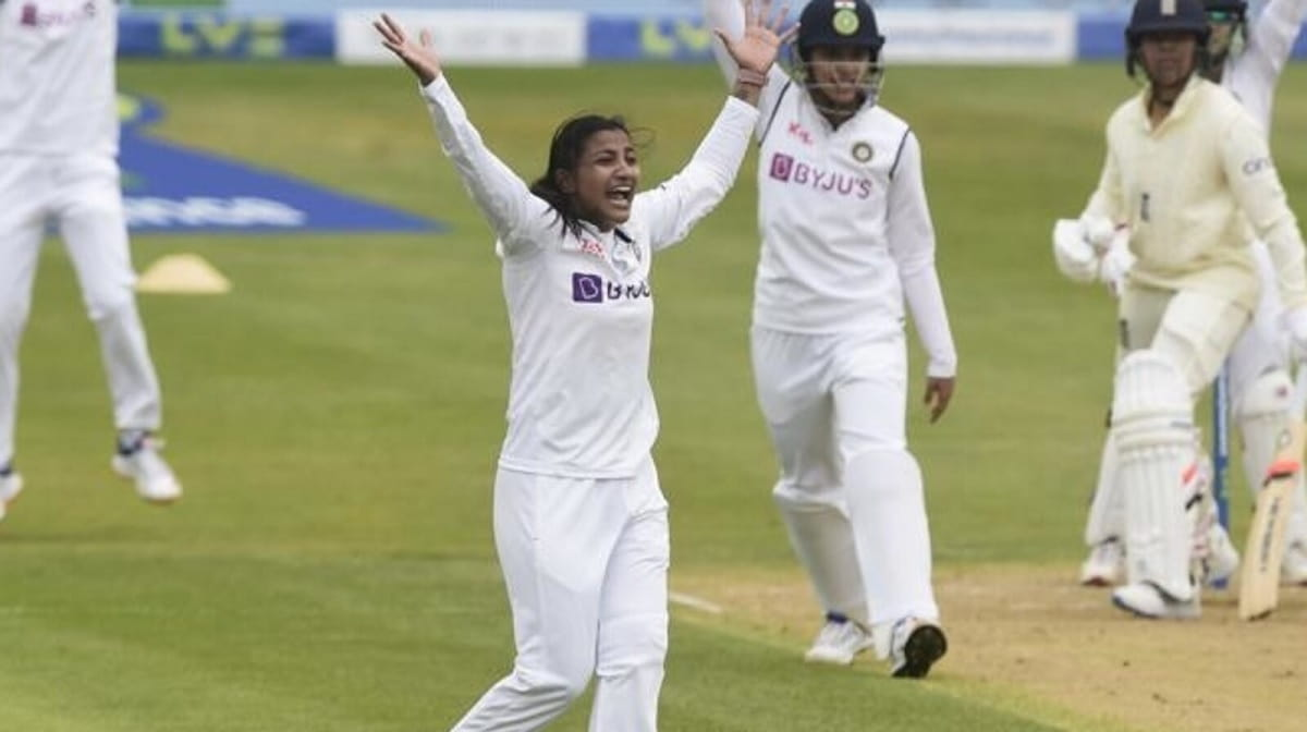 ENGW vs INDW - Sneh Rana becomes first Indian women's cricketer to achieve huge Test feat with brill