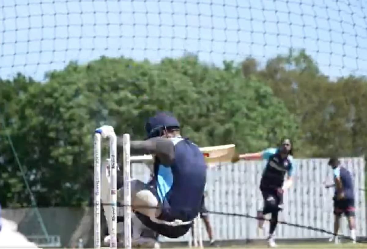 ICC WTC Final - Virat Kohli falls to an unplayable bouncer in training sessionl; Watch video