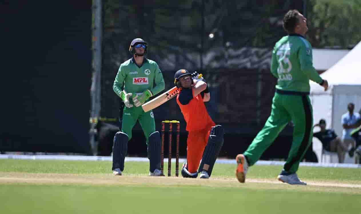 Netherlands fight back to post 195 in the first ODI against Ireland
