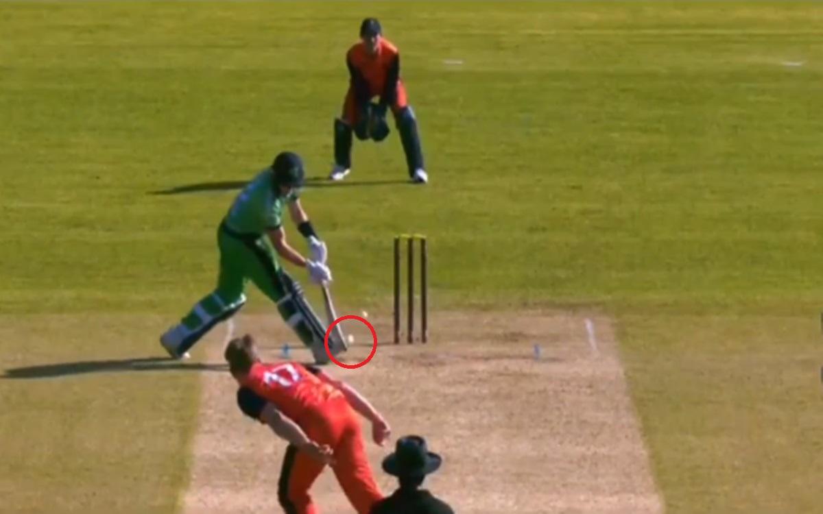 Cricket Image for Netherlands Vs Ireland Joshua Little Antic Shot Watch Video