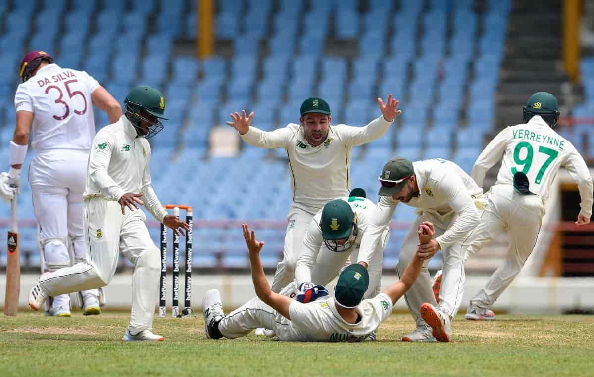 Cricket Image for WI vs SA: साउथ अफ्रीका ने दूसरे टेस्ट में वेस्टइंडीज को 158 रनों से रौंदकर जीती सी
