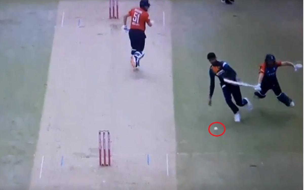 Cricket Image for Sri Lankan Bowler Binura Fernando Collides With Dawid Malan