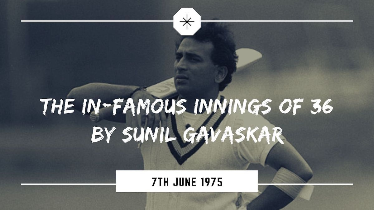 Sunil Gavaskar's Slow inning in the inaugural match of the first edition of men's cricket world cup