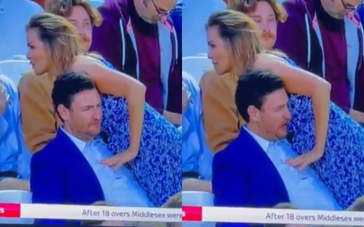 Cricket Image for T20 Blast 2021 Spectator Was Caught On Kissing The Woman Watch Video