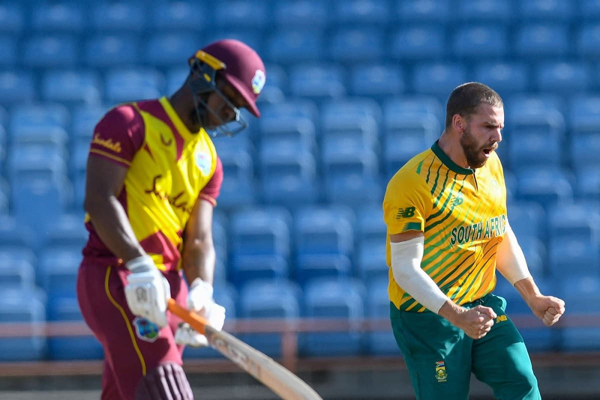 WI vs SA, 3rd t20i - South Africa beat West Indies by 1 run