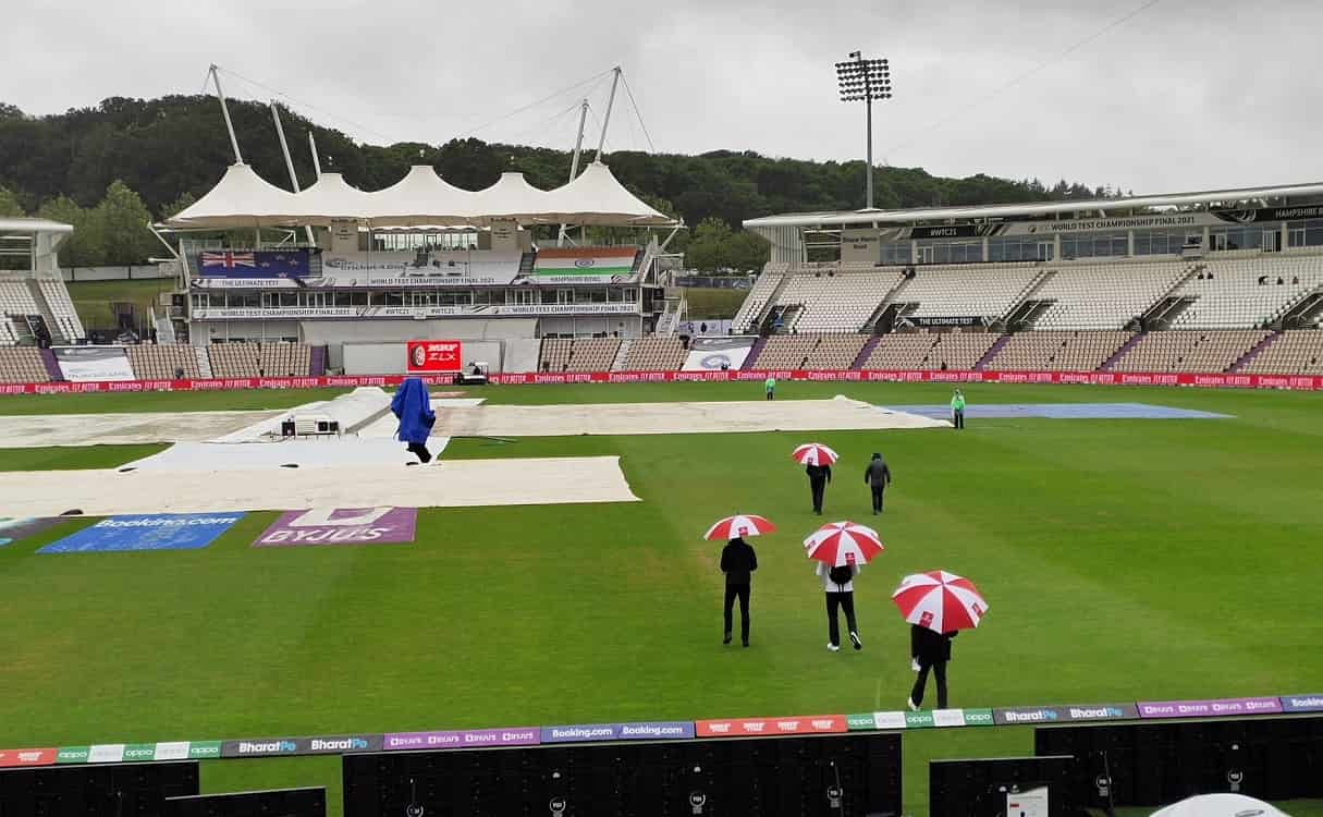Covers on to start the day at the Hampshire Bowl
