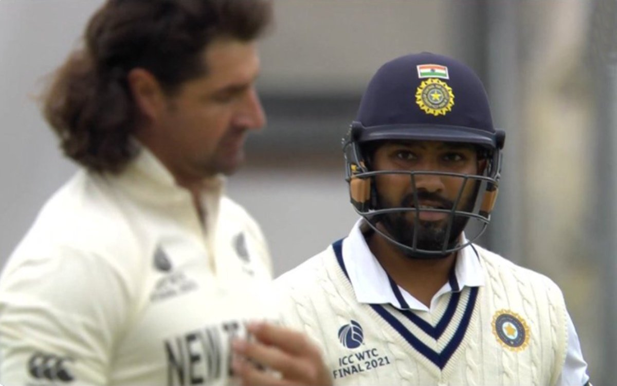 Cricket Image for Wtc Final Rohit Sharma Killer Look To Colin De Grandhomme Watch Video
