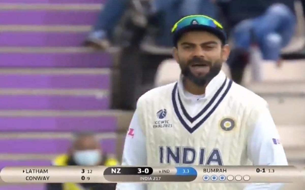 Cricket Image for Wtc Final Virat Kohli Sledges Tom Latham Watch Video