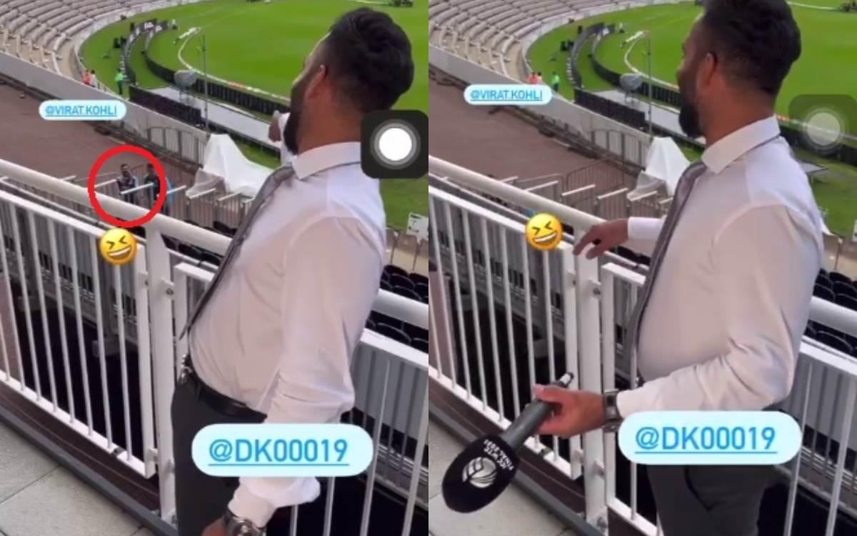 Cricket Image for Wtc Final Funny Moments Between Dinesh Karthik And Virat Kohli
