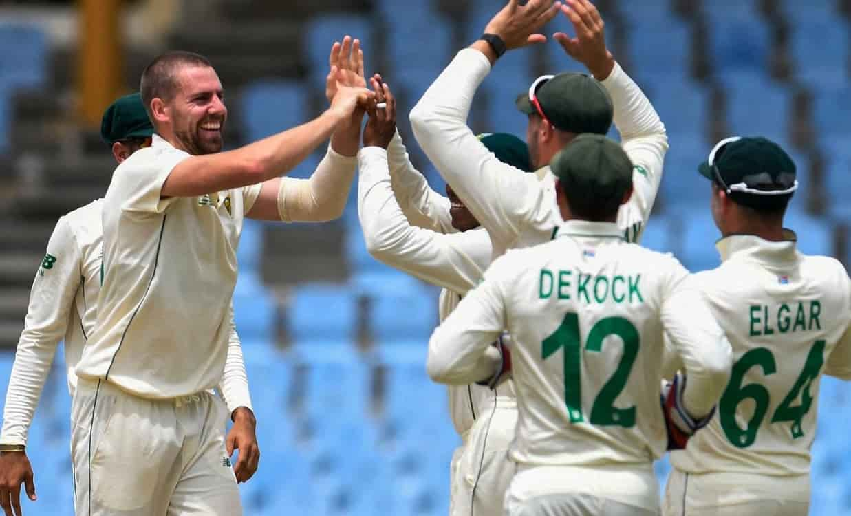 West Indies today registers their lowest ever total in Test Cricket against South Africa.