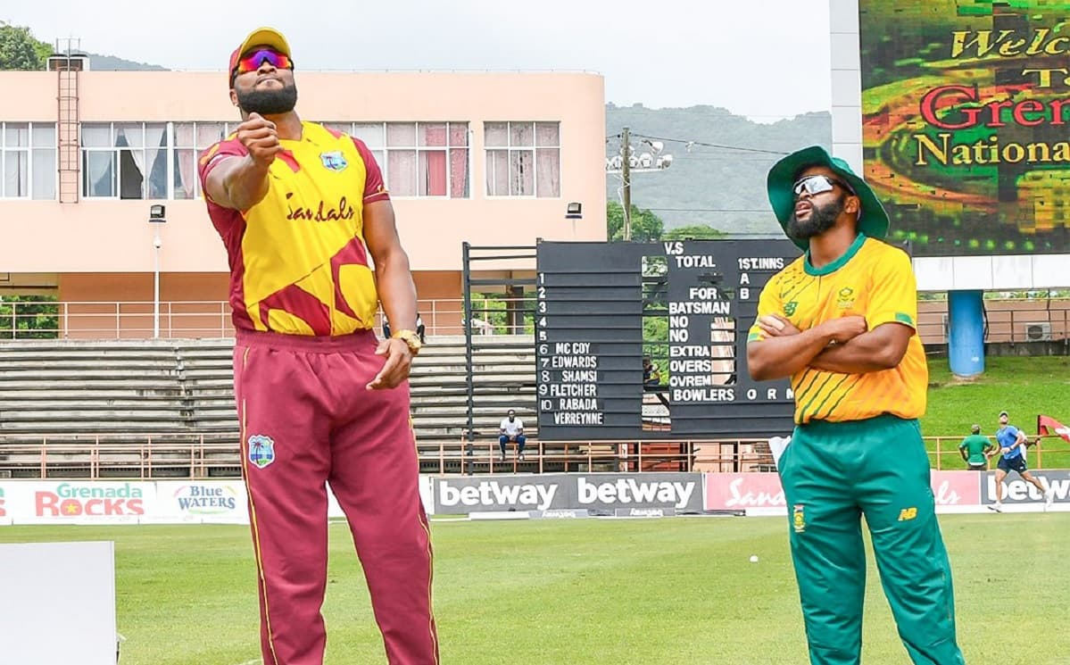 West Indies have won the toss and opted to bowl first in the second T20I against South Africa