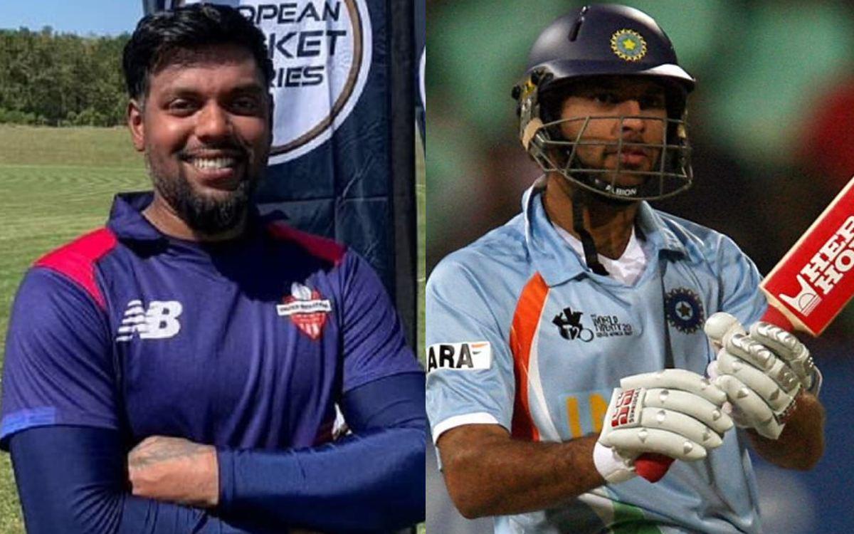 Cricket Image for 373.3 की स्ट्राइक रेट से बल्लेबाजी कर इस खिलाड़ी ने तोड़ा युवराज सिंह का रिकॉर्ड,
