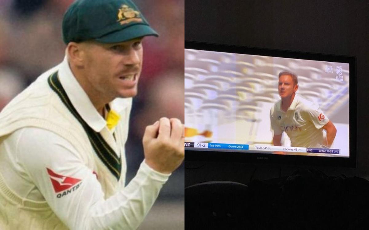 Cricket Image for टीवी स्क्रीन पर ब्रॉड को देखकर उड़ी डेविड वॉर्नर की नींद, एशेज़ से पहले सता रहा है