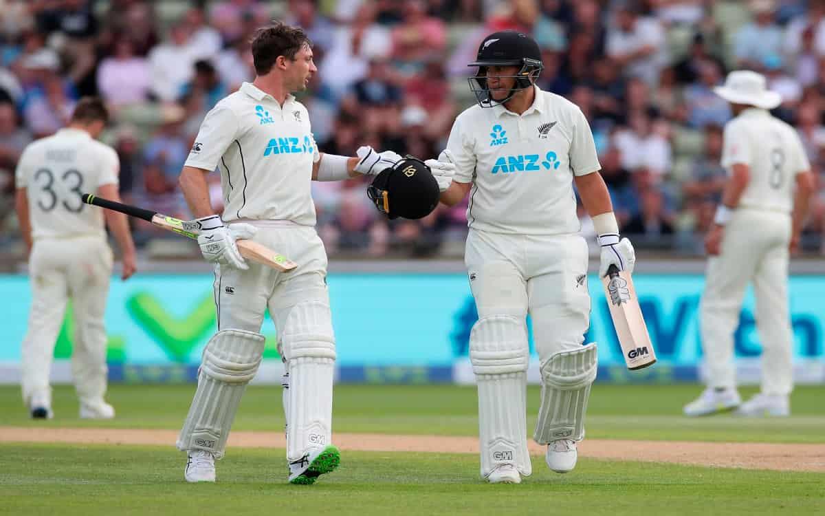 Cricket Image for  ENG vs NZ: कॉन्वे और यंग की अर्धशतकीय पारी से न्यूजीलैंड मजबूत, स्टंप्स तक मेहमान