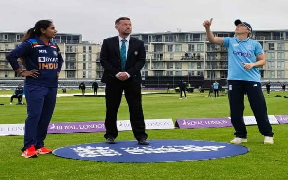 Cricket Image for England Chose To Bowl After Winning The Toss Against Indian Womens Team See Playin