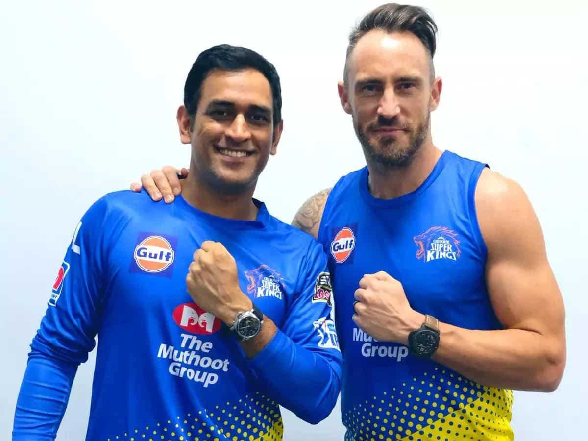 Cricket Image for Gaikwad Throws A Light On MS Dhoni-Faf Du Plessis' Cricketing Bond
